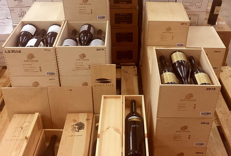 Weinhandel für griechische Weine - Emporio Milos